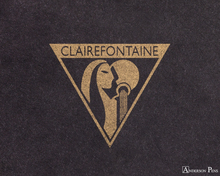 Clairefontaine Flying Spirit Notebook - A5, Lined - Black logo closeup