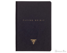 Clairefontaine Flying Spirit Clothbound Notebook - A5, Lined - Black