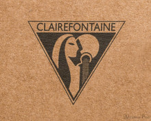 Clairefontaine Flying Spirit Notebook - A5, Lined - Tan logo