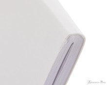 Rhodia Staplebound Notebook - A5, Lined - Ice White binding detail