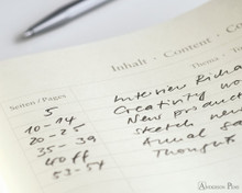 Leuchtturm1917 Notebook - A6, Lined - Ice Blue contents page