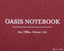 ProFolio Oasis Notebook - A5, Red - Logo 2