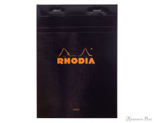 Rhodia No. 16 Staplebound Notepad - A5, Lined - Black