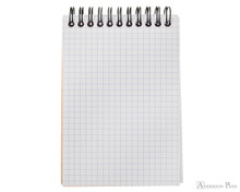 Rhodia No. 13 Wirebound Notepad - A6, Graph - Orange open