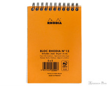 Rhodia No. 13 Wirebound Notepad - A6, Graph - Orange back cover