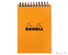 Rhodia No. 13 Wirebound Notepad - A6, Graph - Orange