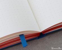 Leuchtturm1917 Notebook - A5, Red Dots - Royal Blue dot detail