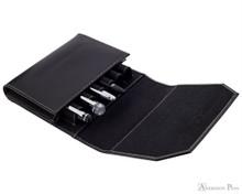 Franklin-Christoph Penvelope Six - Black - Open with Pens