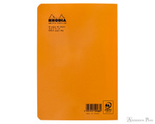 Rhodia Staplebound Notebook - A5, Lined - Orange back cover