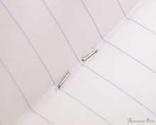 Rhodia Staplebound Notebook - A5, Lined - Orange inside staple detail