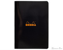 Rhodia  Staplebound Notebook - A5, Lined - Black