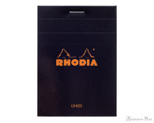 Rhodia No. 11 Staplebound Notepad - 3 x 4, Lined - Black