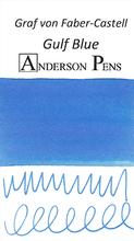Graf von Faber-Castell Gulf Blue Ink Sample Color Swab