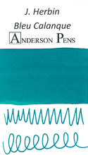 J. Herbin Bleu Calanque Ink Color Swab