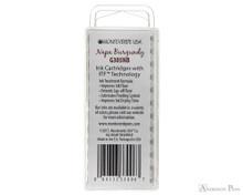 Monteverde Napa Burgundy Ink Cartridges (12 Pack) - Back