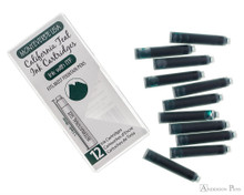 Monteverde California Teal Ink Cartridges (12 Pack) - Box and Cartridges