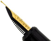Esterbrook Estie Fountain Pen - Ebony with Gold Trim - Nib Profile