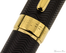 Sheaffer Intensity Fountain Pen - Matte Black with Gold Trim Cap Band