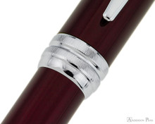 Cross Bailey Ballpoint - Red Lacquer with Chrome Trim - Cap Band