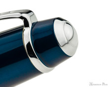 Cross Bailey Ballpoint - Blue Lacquer with Chrome Trim - Cap Jewel