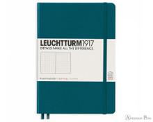 Leuchtturm1917 Notebook - A5, Dot Grid - Pacific Green