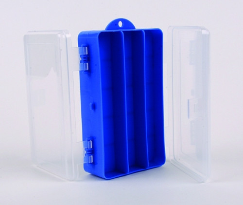 tackle box two-sided blue