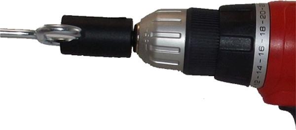 shelter anchor drill adapter