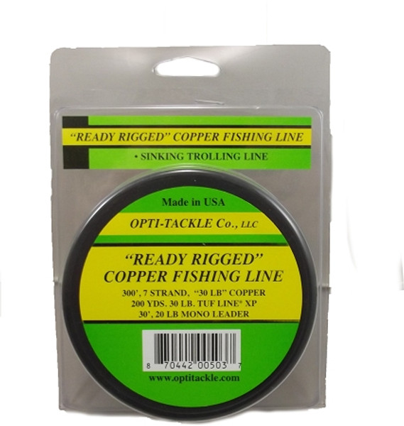 """trolling line copper """"ready rigged"""""""