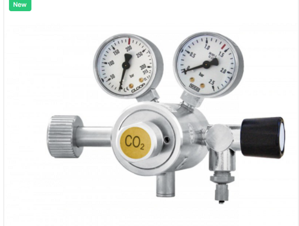 Carbon Dioxide Gas Regulator With Two Manometer