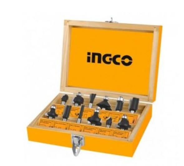 INGCO 12Pcs Router Bits Set (12mm) AKRT1221