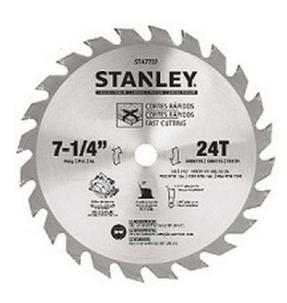 """STANLEY 7-1/4"""" 24T Saw Blade – Carded"""
