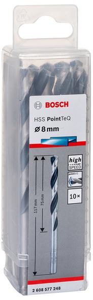 Bosch  Metal drill bit HSS PointeQ 8 mm (10pcs)