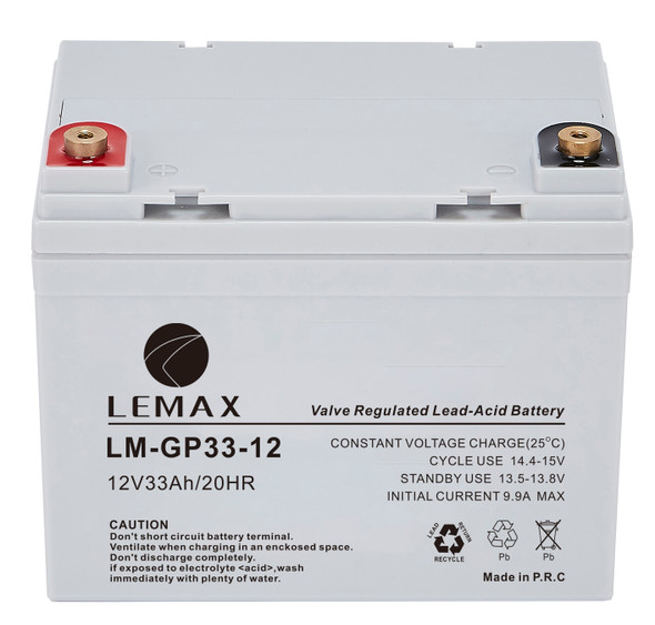 General Purpose Battery (GP) LM-GP- 12V33AH - AGM Battery for Electronic Toy and Wheel Chair