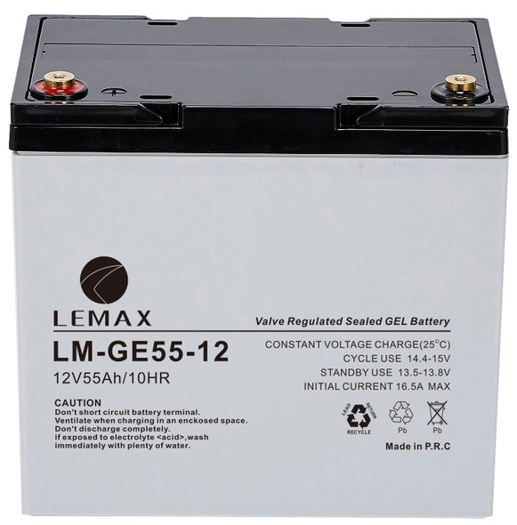 LEMAX GEL Battery LM-GE-12V55AH