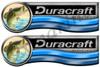 Two Duracraft Boat Stickers Die cut 14x3.5