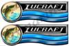 Two Lucraft Daytona Designer Boat Stickers