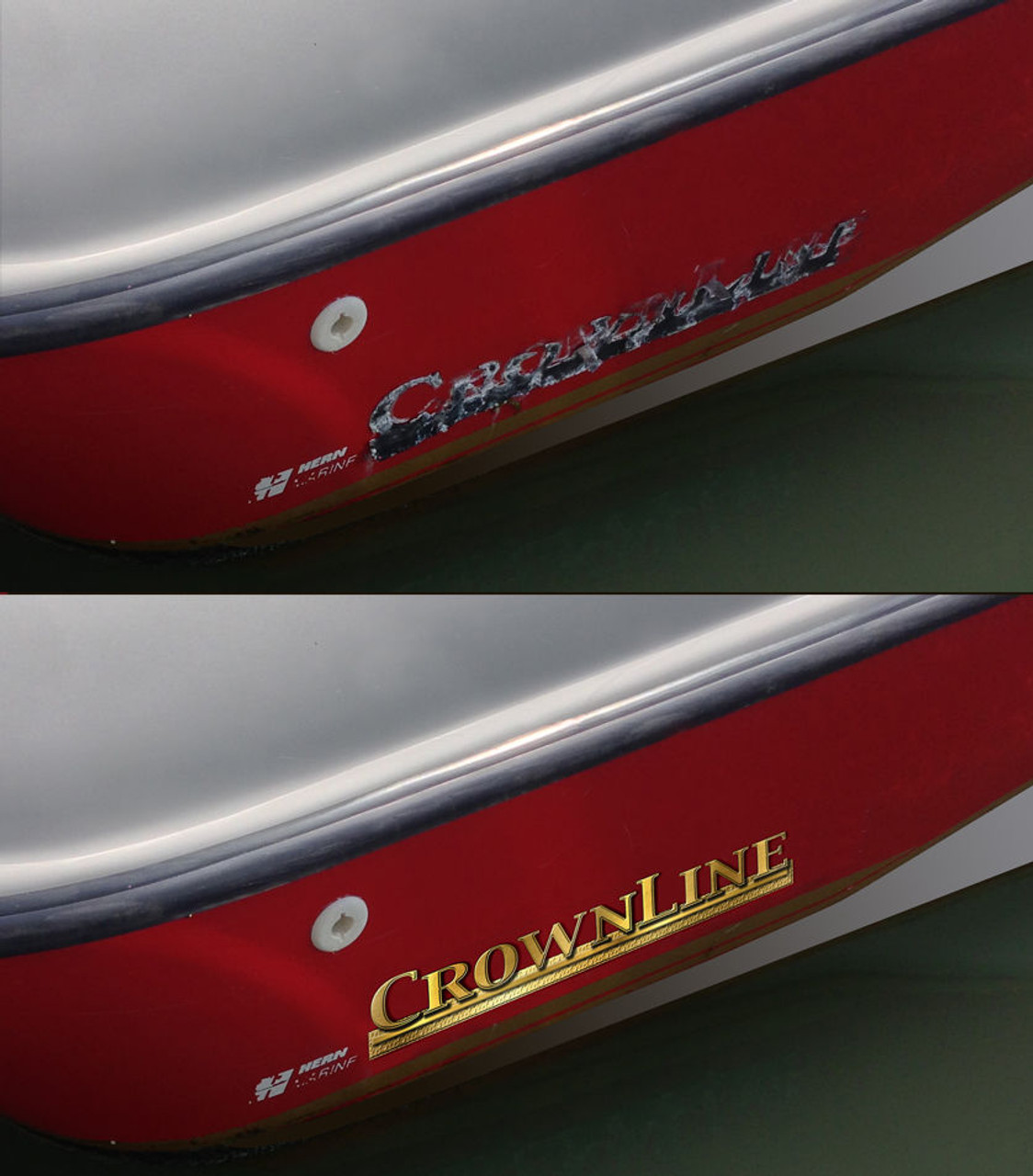 """Two 20"""" CrownLine Boat Plastic Decals"""