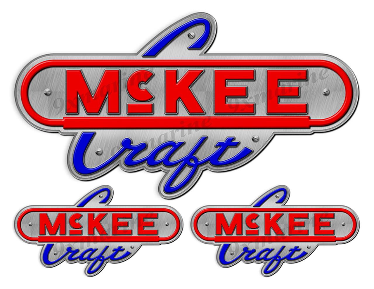 "McKee Craft Vintage Stickers ""3D Vinyl Replica"" of originals - 10"" long"