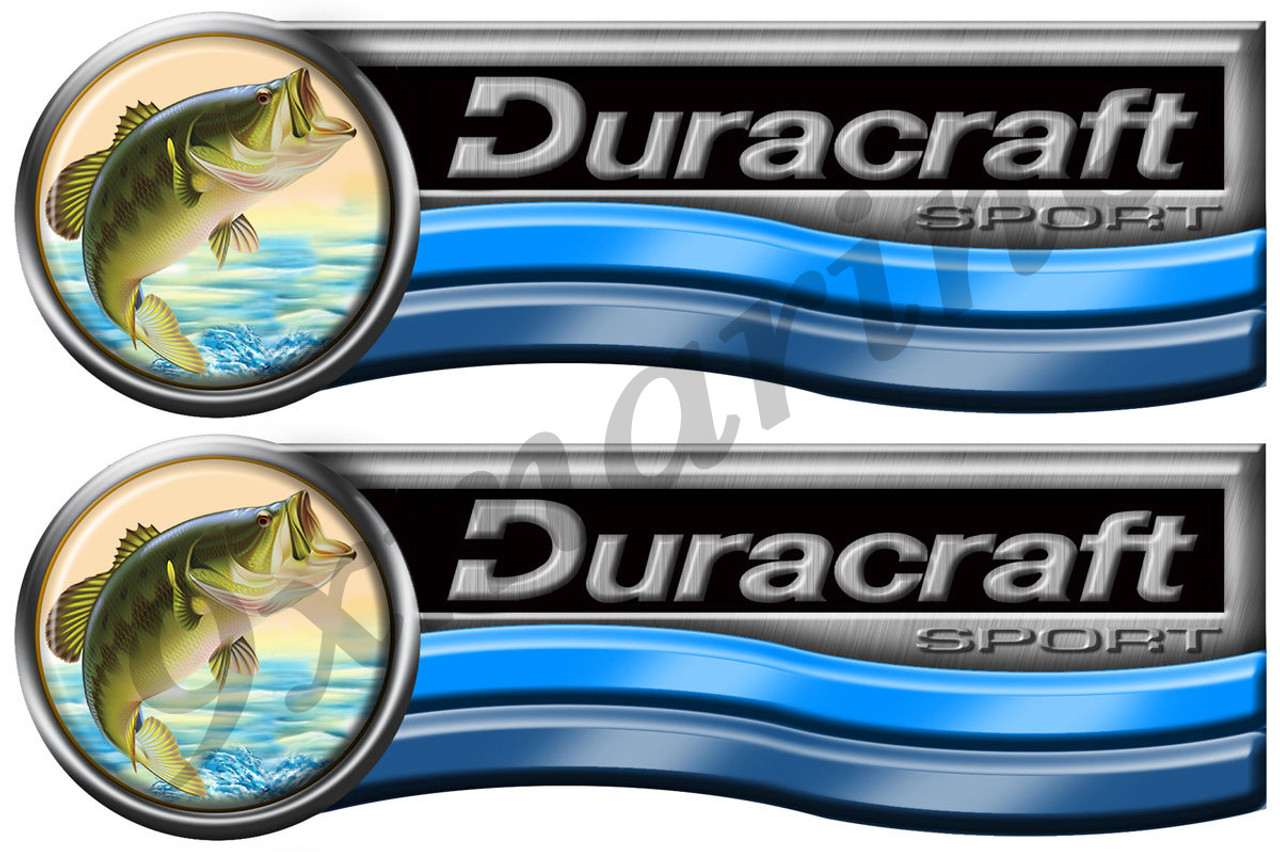 Two Duracraft Boat Stickers Large Format. Must be cut 16x5