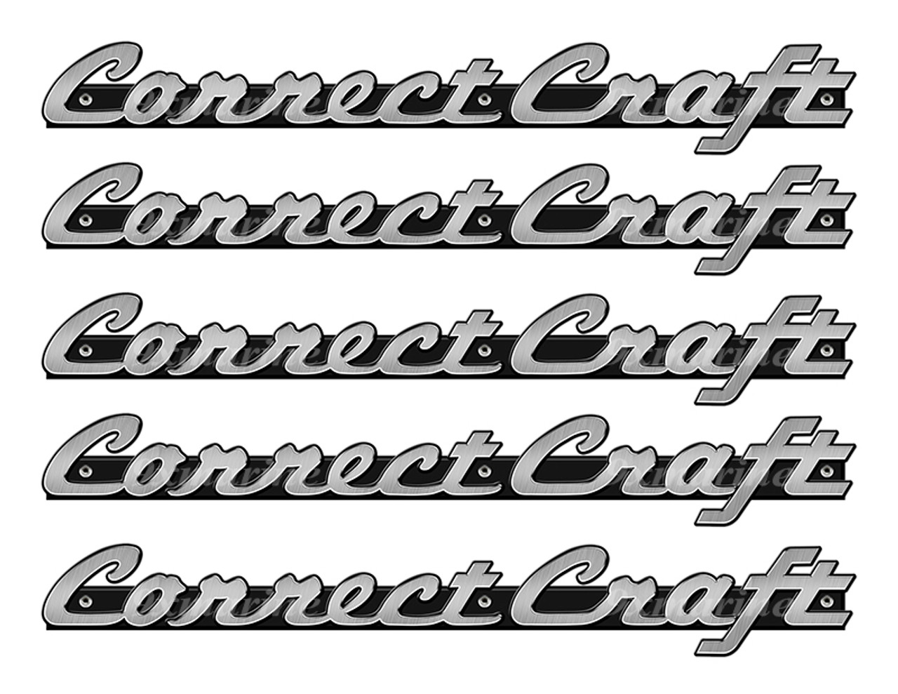 "5 Correct Craft Stickers ""3D Vinyl Replica"" of original - 10"" long"