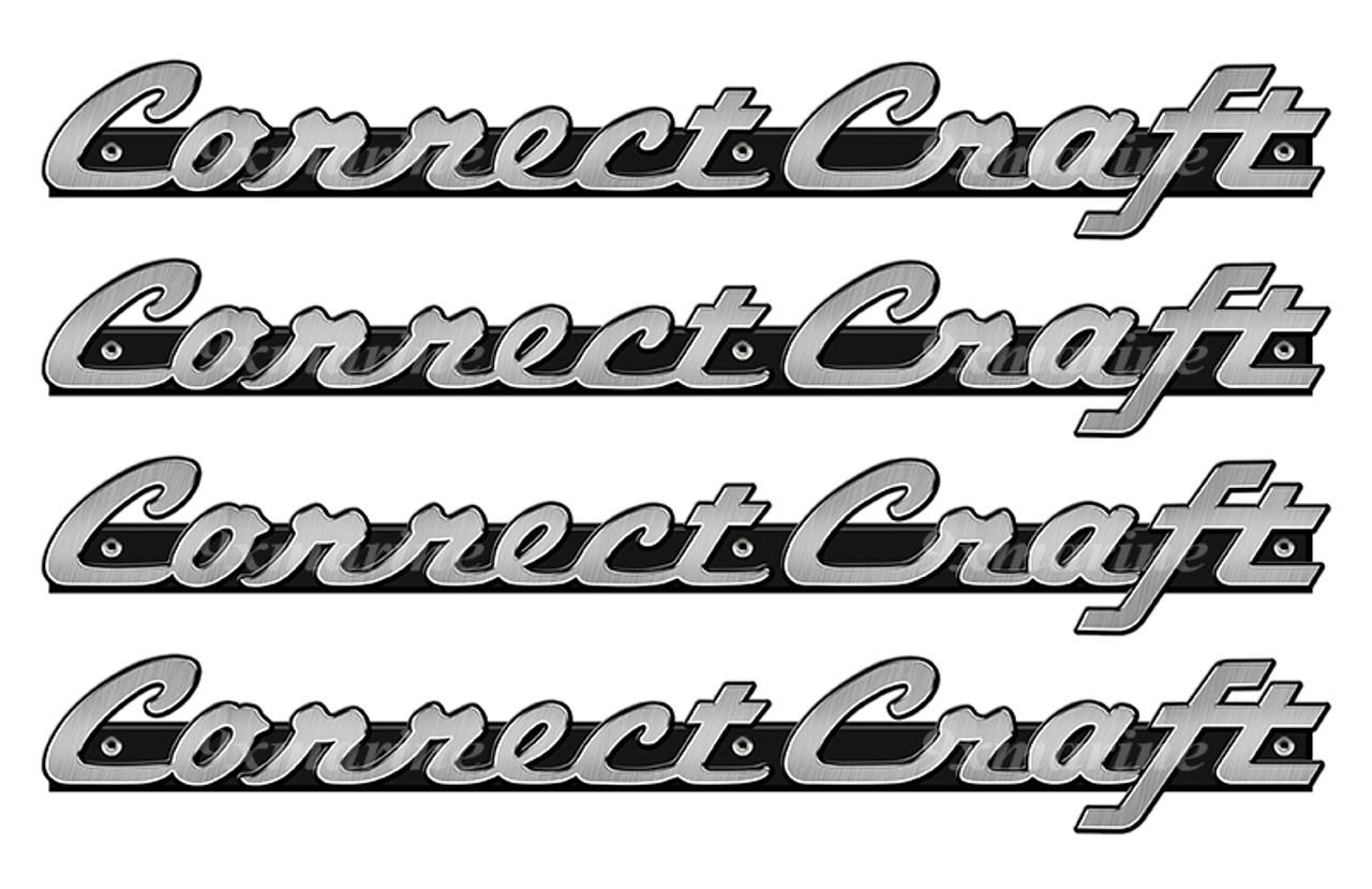 "4 Correct Craft Stickers ""3D Vinyl Replica"" of original 16"" long. Die-cut ready"