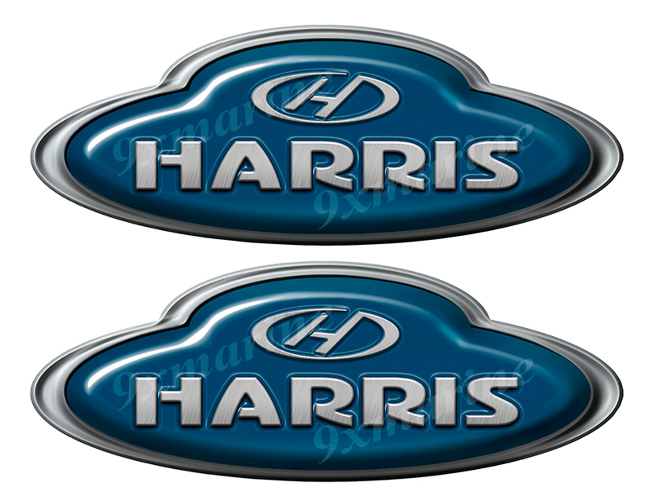 Harris Boat Oval Sticker set - Name Plate