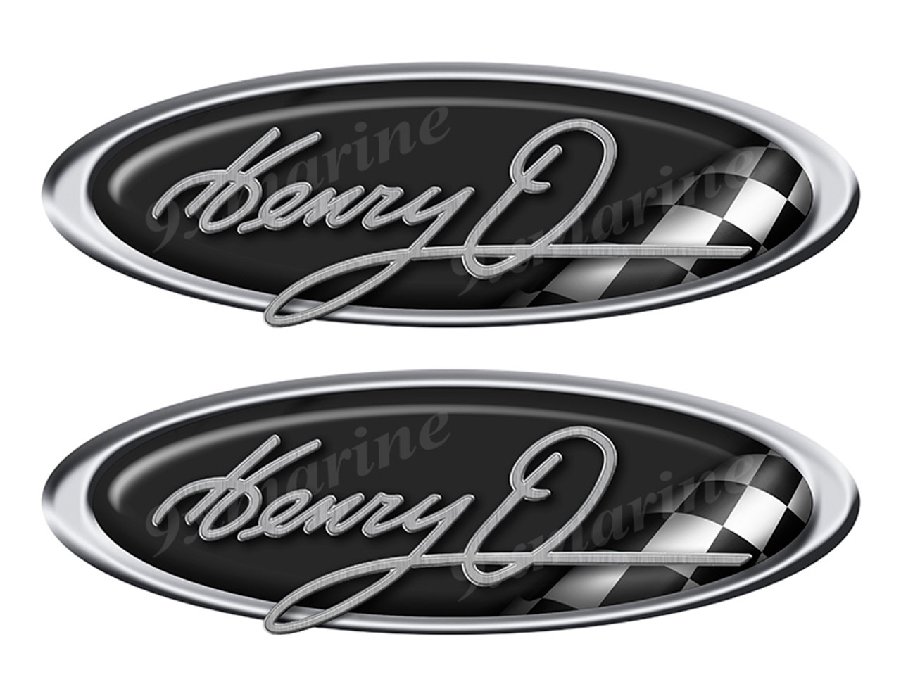 """Henry O 80s Classic Racing 10"""" long Stickers"""