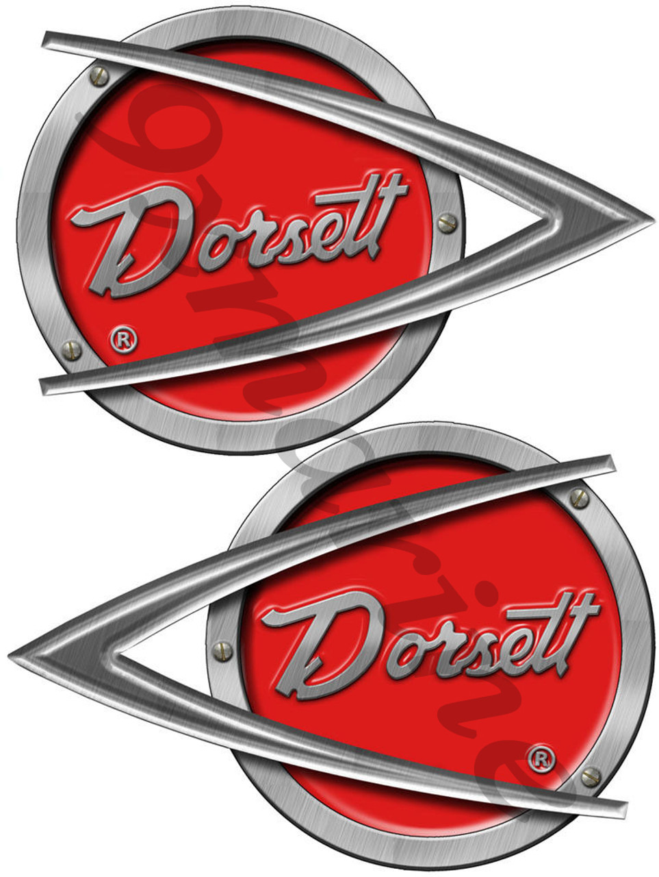 Two Dorsett Vintage Stickers Vinyl Replica