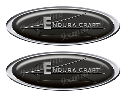 "Two Endura Craft Classic Oval Stickers 10"" long"