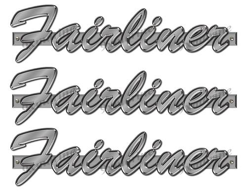 "Fairliner 60s boat Stickers ""3D Vinyl Replica"" of originals - 10"" long"