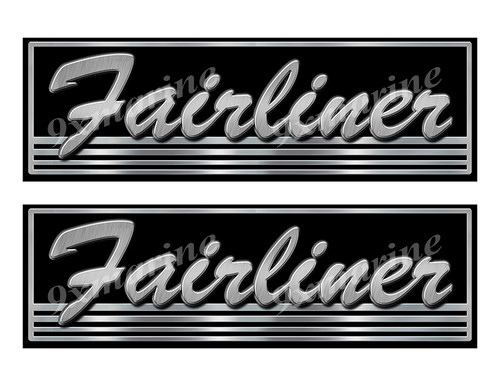 Fairliner boat Custom Stickers - 10 inch long set. Remastered Name Plate