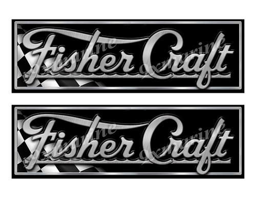"""Fisher Craft Classic Racing 10"""" long Stickers"""