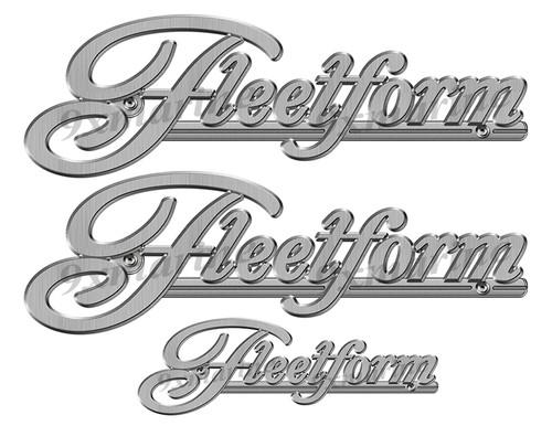 "Fleetform boat Stickers ""3D Vinyl Replica"" of originals - 10"" long"