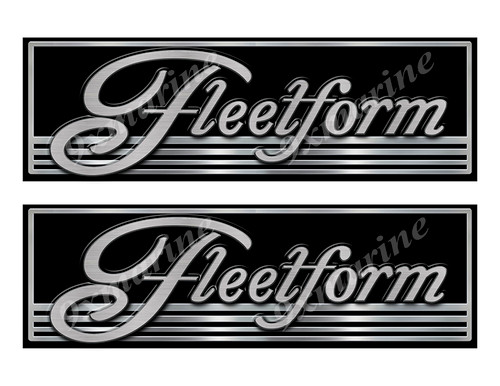 Fleetform boat Custom Stickers - 10 inch long set. Remastered Name Plate